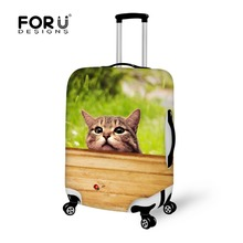 S/M/L Travel Trolley Luggage Bag Dust Rain Cover Animal Cute Cat Dog Print Suitcase Cover for 18-30 Inch Protect Luggage Cover(China)