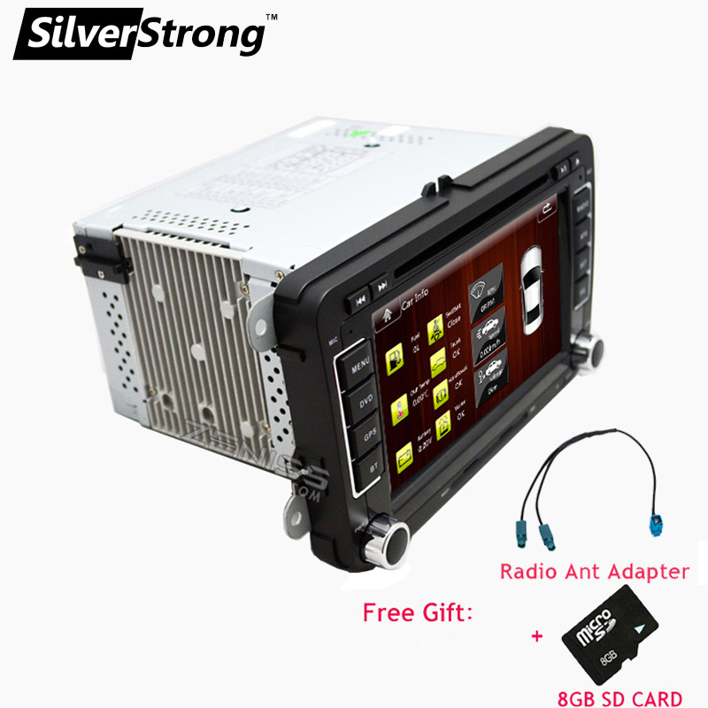 SilverStrong 2Din UNIVERSAL 7inch VW Radio Car Radio For Skoda Octavia2 and Passat B5-B7 POLO GOLF5 6 Jetta DVD 65D(Hong Kong)