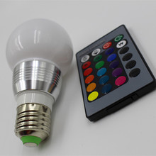 E27 LED 16 Color Changing LED RGB Magic Light Bulb Lamp 85-265V RGB Led Light Spotlight + IR Remote Control 5W 7W Night  Light