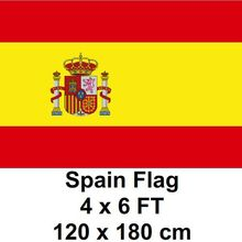 Spain Spanish Flag 120 x 180 cm 100D Polyester Flags And Banners National Flag Country Banner For Home Decoration