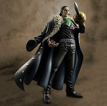 Wholesale 18pcs Anime one piece  Sir Crocodile action pvc figure toy tall 25cm in box via EMS.