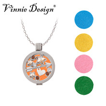 Vinnie Design Jewelry New Arrivals Essential Oil Aromatherapy Diffuser Pendant Necklaces For Women Perfume Fragrance Necklace(China)