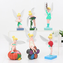 New Arrival 8-11cm 6pcs/set Tinkerbell Fairy Adorable Tinker Bell Figures Flower Pretty Doll Toy Classic Toys For Children(China)