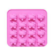 Free Shipping 16 Holes Mini Cartoon Hello Kitty Silicone Chocolate Mold Fondant Cake tools Baking Pan Jelly Pudding Mould A978