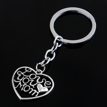 Bespmosp Charm Family Dad Mom PAPA Mommy Heart Crystal Keychain Butterfly Animal Women Men Girl Rhinestone Keyrings Daddy Chains(China)