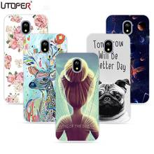 Fashion Girl DIY Name Phone Case For SAMSUNG GALAXY J7 2017 Europe Version Case Soft TPU Pattern Cover For Galaxy J730 2017 Capa(China)