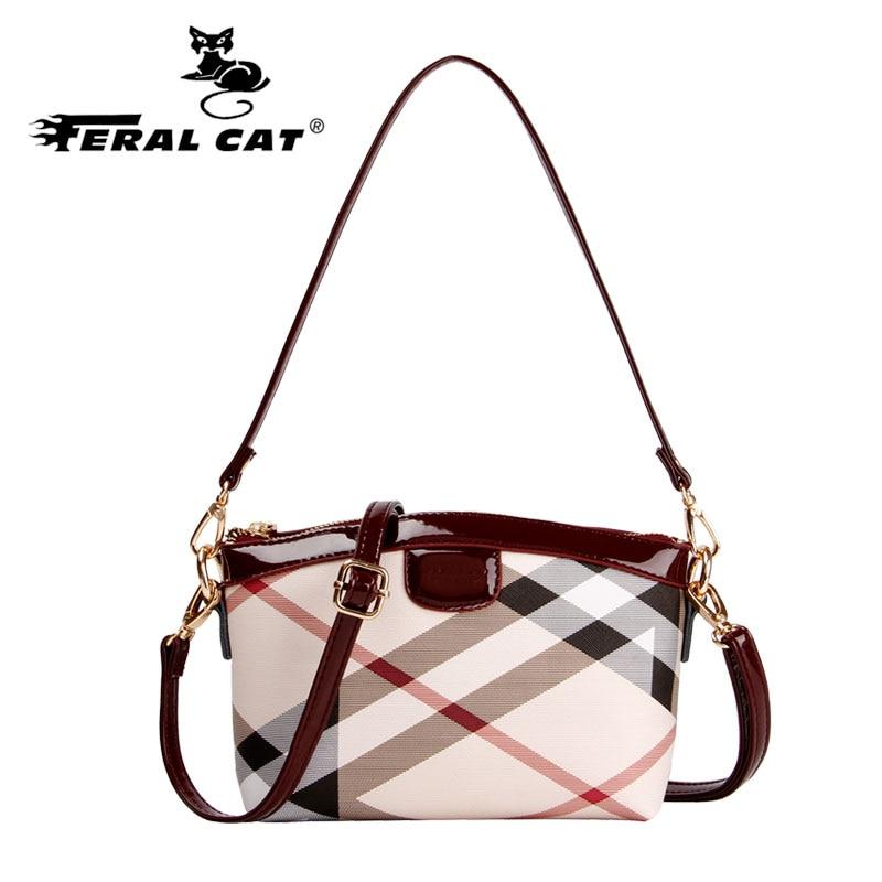 Fashion Classic Plaid Women Handbags Leather With High Quality PVC Woman Shoulder Bag Simple Stripes Famous Brand Handbags<br>