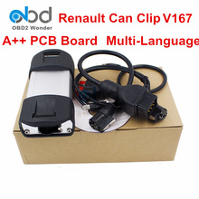 DHL Fast Shipping Renault Can Clip Car Diagnostic Interface Newest V167 Can Clip Scanner Tool For Renault Cars 1999 to 2016