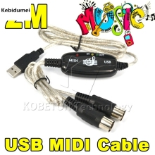 Kebidumei 2016 Hot Sale USB TO Keyboard PC MIDI Interface Adapter Cable 2M For PS2 CUBASE Cakewalk PC Computer XP 7 8 MAC(China)