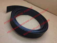 POWGE 25Meters P2 Flat belt P2-32 Width 32mm thickness 2mm PU Color Black polyurethane with Steel Chip baseband conveyer belt(China)