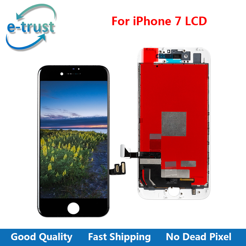 e-trust Grade AAA+ Quality LCD Display Replacement For iPhone 7 Touch Screen Digitizer Assembly No Dead Pixel With Free shipping(China)