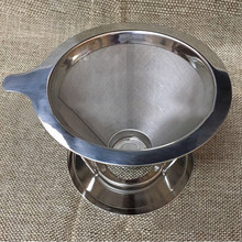 2-4 Cups Stainless Steel  Coffee Filter With Stand Tea Espresso Coffee Dripper Pour Reusable Funnel High Quality Hot Sale
