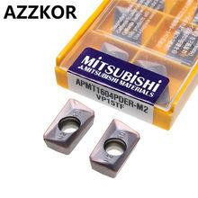 AZZKOR 10 piezas APMT1604PDER-M2 VP15TF torneado Herramientas CNC centro de  mecanizado precisión semi-acabado hoja 5df26bb610e3