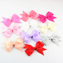 "Wholesale 300pcs/lot 3.5"" Kids Boutique Hair Bows WITHOUT Clips Girls Children Grosgrain Ribbon Headband Infant Hair Accessories(China)"