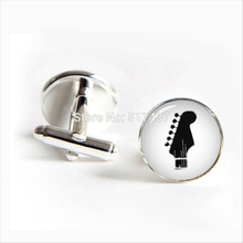 2017 Free Shipping Guitar Cufflinks Musical Instrument Cuff link Gibson Guitar Cuff Men Cufflinks High Quality
