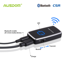 Ausdom ATR1 2-in-1 Bluetooth Transmitter and Receiver With 3.5mm Stereo Output Connect earphone/TV/Car kit/iPhone/iPad/PC(China)