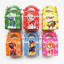 Free Shipping 24 X Pawed Patrolling Candy Box Kids Birthday Gift Box Party Deco Supply(China)