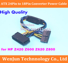 High Quality ATX 24Pin to 18Pin Adapter Converter Power Cable Cord for HP Z420 Z600 Z620 Z800 Desktop Workstation sent by DHL(China)