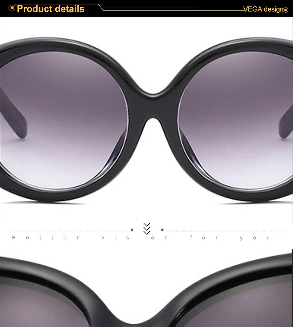 VEGA Eyewear Fashion Oval Sunglasses Women for Big Face Ladies Oversized Glasses with  (1)