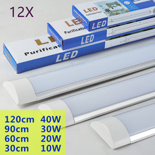 12pcs Nwe Lampada Led Panel Lights LED Batten light Explosion Proof dust-proof lamp 20W 30W 40W Ceiling lamp Purification lights