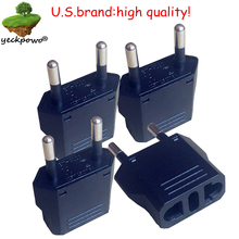U.S.Brand high quality! 4 pcsUS to EU Plug adaptor plug convertor plug adaptor Travel Adapter  US to EU Power Converter