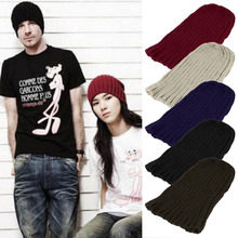 Men Women Warm Winter Cap Knitting Skating Skull Cap Hat Beanies Turtleneck Cap Snowboard Hip hop hats for female male