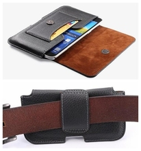 "2016 A3 J1 J2 4.8"" Mobile Phone Bag for Samsung Galaxy S2 S3 S4 S5 mini Case Durable Leather Belt Clip Magnetic Buckle Cover(China)"