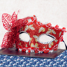 High Quality Mask Beautiful Princess Venice Lace Red Butterfly Mask Masquerade Party Masks 3PCS