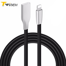Twitch 3D Zinc Alloy Micro USB Cable for iPhone 6 6S Plus Charger Power Cord for iPhone 4 5 5s SE for iphone 7 plus Adapter Wire
