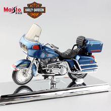1:18 Scale kids Harley 1980 FLT Tour Glide Diecast metal model motorcycle mini moto auto car-styling gift toys for kids boy blue