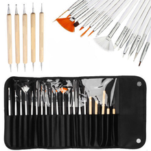 20pcs/set Nail Design Painting Villus Brush Wood Dotting Pen Brushes For Manicure Drawing Gel Nail Polish Nail Art Instruments