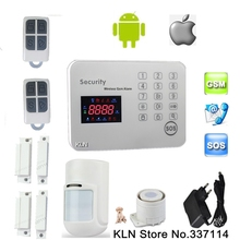 Gsm alarm system security home sensor de movimento pet immune and door switch alarma 6 call number + 6 sms number + 3 help No