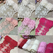 7colors 14 yards/lot Novelty DIY lace fabrics/width 11.5-10.5cm/Exquisite embroidered lace fabrics/14071702
