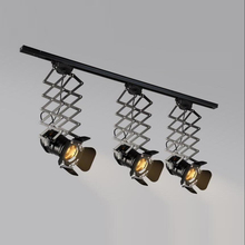 ceiling Individual ceiling light share Loft wind creative clothing store LED bar lamp telescopic