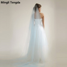 Wedding Bridal 3 Meters Long One Layer Veil With Comb Ivory/White Elegant Wedding Accessories Velos De Novia voile de mariee(China)