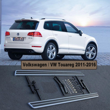 For Volkswagen  VW Touareg 2011-2016 Car Running Boards Auto Side Step Bar Pedals High Quality Original Design Nerf Bars