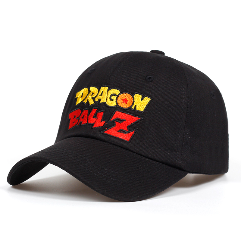 Letter Dragon Ball Z dad hat Cotton Baseball Cap For Men Women Adjustable Hip Hop Snapback golf Cap hats Bone Garros Casquette 2