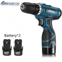16.8V Multifunction Rechargeable Lithium Battery*2 Torque  Electric Drill bit cordless Electric Screwdriver hand wrench tool set