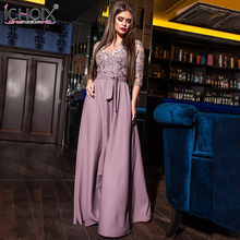 Buy 2018 Lace sexy summer dress Women v neck hollow vintage maxi dress long Elegant party dress blue vestidos women clothing for $16.90 in AliExpress store