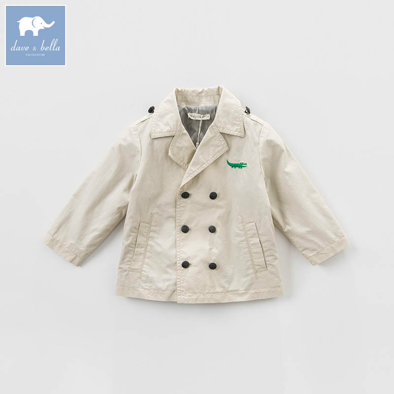 DBA6384 dave bella spring infant baby boys fashion coat kids toddler apricot coats children hight quality clothes <br>