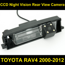 Waterproof 0Lux/ 4 LED Rear view Camera BackUp Reverse Parking Camera for TOYOTA RAV4 2000-2012 Car reverse camera 8067LED(China)