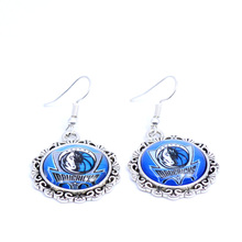 Earrings Dallas Mavericks Charms Dangle Earrings Sport Earrings Basketball Jewelry for Women Birthday Party Gift 5 pairs(China)