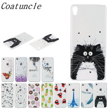Transparent Phone Case sFor Sony Xperia XA /XA Dual F3111 F3113 F3115 Lovely Animal Cat Silicon Soft TPU Back Cover For Sony X A(China)