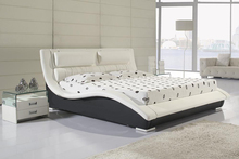 contemporary modern leather soft bed King size bedroom furniture Made in China