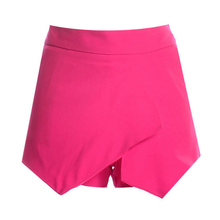 High Quality White Pink Black Winter Summer Dropped Saias Jupe Skirts Ladies Womens Skorts Shorts Bright Mini Asymmetrical(China)