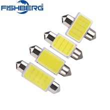 10pcs FESTOON COB 31mm 36mm 39mm 41mm C5W LED Bulb COB Chips DC12V White Color Car Dome Light Auto Interior Lamp FISHBERG