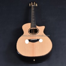 Customized solid wood acoustic guitar, Guitarra acustica, full solid wood guitar