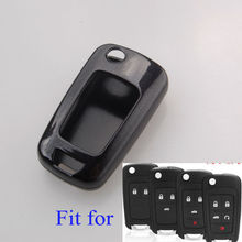 BBQ@FUKA Paint Metallic Black Color Key Case Shell Cover fit for BUICK GMC CHEVROLET Flip Remote Key 2 3 4 5 Buttons