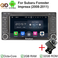 Sinairyu Octa Core Android 6.0 Car DVD Player for 2008-2011 SUBARU Forester Impreza Radio with Bluetooth GPS Navigation RDS WIFI(China)