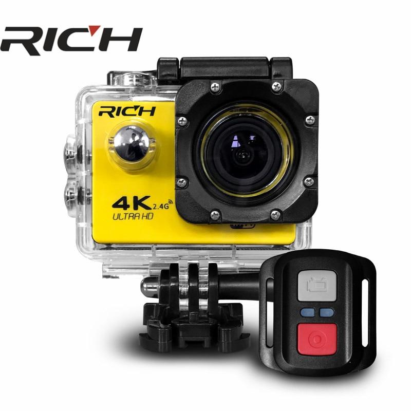2 Stücke Action Kamera Wifi Für Go Pro Hero 4 Sport Kamera 1080 P Hd 30 M Wasserdicht Sport Camrea Extra Kopfband Einbeinstativ Tasche